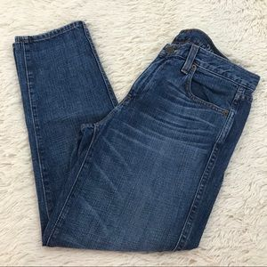 J. Crew Cropped Vintage Straight Jeans Distressed